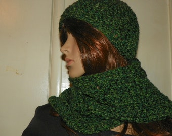 Forrest Green Hat and Scarf set