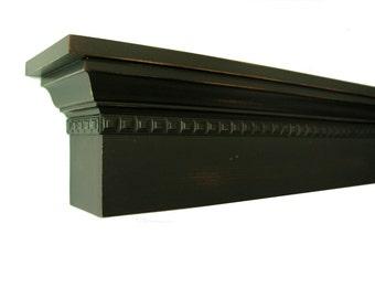 The Dillard Farmhouse Mantel Shelf - Fireplace - Headboard  Floating Shelf With a Distressed Finish