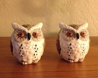 Owl Vintage Salt and Pepper Shakers