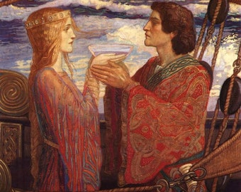 Tristan and Isolde - Cross stitch pattern pdf format