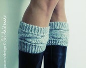 Boot cuffs pattern Boho Knits - Boot Cuffs, leg warmers PDF Knitting Pattern - cable fall knits accessories - Instant DOWNLOAD