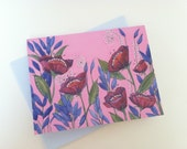 Pink Poppy Greeting Cards- 8 card pack
