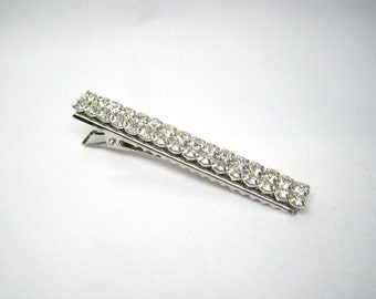 "Crystal Bridal Hair Clip, 3"" Long Rhinestone Hair Clip, Crystal Wedding Hair Clip, Ready to Ship"