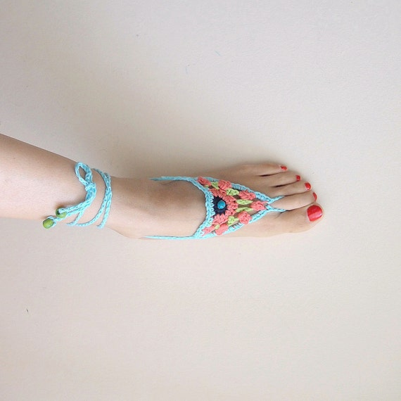 Crochet  pattern Barefoot sandals,   summer sandals, boho sandals,  wedding barefoot shoes , beach sandals,yoga ,dance