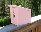 Pink Cotton Candy Hanging Birdhouse Handmade