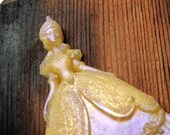 PRINCESS SOAP - Once upon a time - Fairy Tale Soap - Colored in Gold and Orchid - Scented in Baby Rose - Children's Soap - Vegetable Based