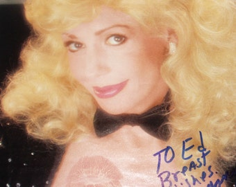 Mature,Nude Photo, Playboy Autograph, Morganna, The Kissing Bandit, 1983
