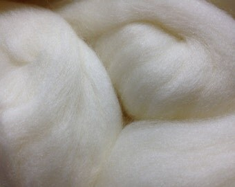 Undyed Superwash Merino Top Roving, 23 Microns, 100 Grams, Spinning Fiber Combed Top