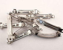 Silver Tone French Barrettes Clip For Hair Bows Metal French Clip Available in 40mm 50mm 60mm 70mm 80mm