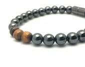 Tigers Eye Men's Magnetic Bracelet    Holistic Therapy    Traditional Medicine    Woman's Bracelet    Simple Unisex Design   