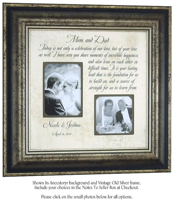 Wedding Gifts Parents: Parents Thank You Gift Wedding Wedding By PhotoFrameOriginals