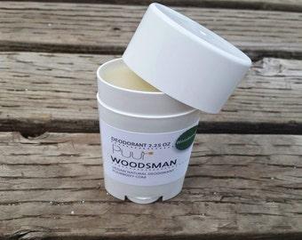Woodsman - VEGAN Natural Deodorant - Aluminum Free Deodorant Stick Woodsy Men's Scent With Shea Butter