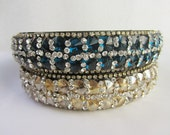 Fancy Blue and Champagne Crystal Headband