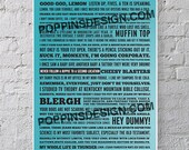 11x17 30 Rock Quotes Poster: Liz, Jenna, Tracy, Jack, Kenneth