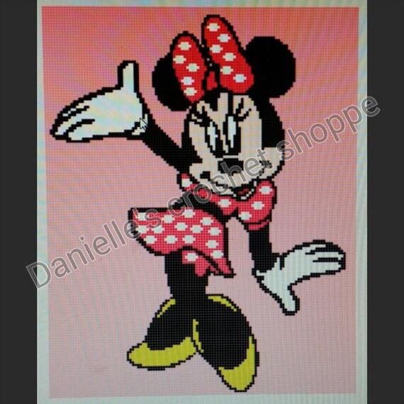 Minnie Mouse Free Crochet Blanket Pattern Joy Studio ...