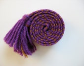 hand-woven wool inkle belt child's size
