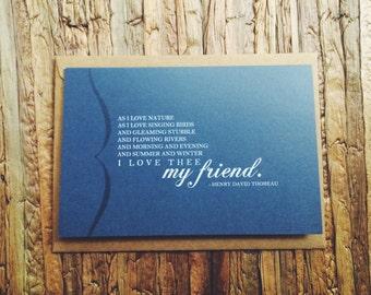 I Love Thee, My Friend - Henry David Thoreau
