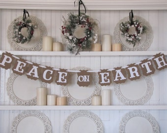 PEACE on EARTH Banner for the Holiday Season