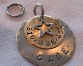 Pet Tag-Stamped With Star charm