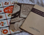 Set of Three Vintage Cookbook Advertising PamphletsParty Ideas 1930s and 1940s