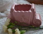 Vintage Pink Ceramic Planter/Vase