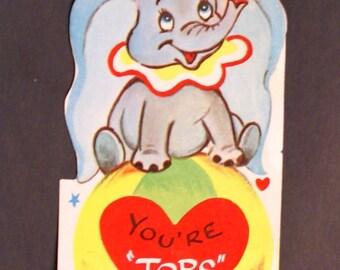 1940s Vintage Dumbo Valentine