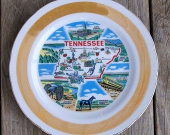 Vintage Collector Tennessee State Plate
