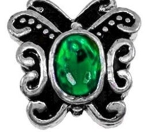 Green Rhinestone Charm*May Birthstone*St. Patrick's Day*