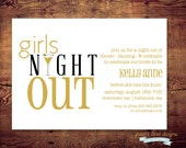 Printable Bachelorette - Girls Night Out Party Invites (digital file) DIY Printing at home or your choice of printer
