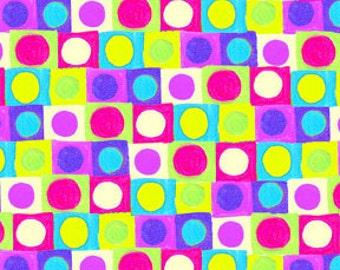 Hoopla and Everyday Fun, In the Beginning Fabric, Jennifer Heynen, Multicolor, Shapes, 1/2 Yard