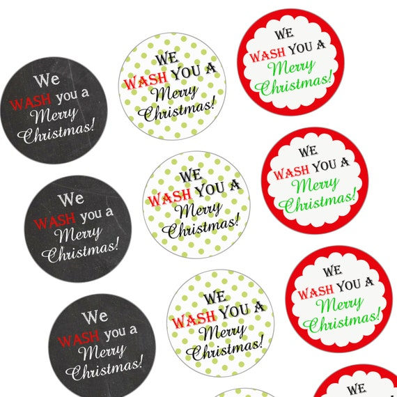 ... Christmas Gift Tag - Attach to Bath & Body Hand Soaps - Printable