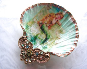 The Little Mermaid Large Shell Jewelry Dish