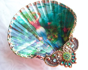 Jewelry Dish, Mermaid Dish, Mermaid Shell, Trinket Dish
