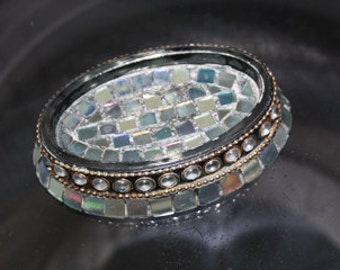Iridescent Mosaic Soap Dish