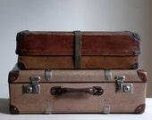 Vintage Brown Shipping Box, Industrial Storage Decor