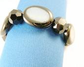 Black and Grey Stretch  Bracelet