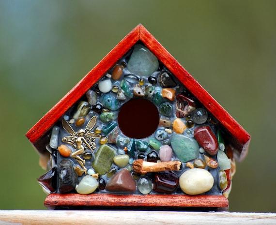 Handmade Spark - Winestone Birdhouses - Whimsical Fairy Birdhouse