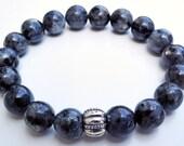 18 Stone Labradorite Mala Bracelet