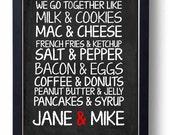 Long distance Relationship Gift-Chalkboard Art - Kitchen Chalkboard Art - sign Decor ( We Go Together) Vintage style