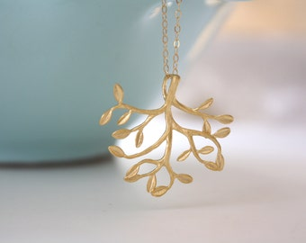 Twig Jewelry, Gold Necklace, Tree of Life Pendant dainty gold necklace, bridesmaid gifts, Gifts for Her, Mothers Day Gifts, Nature Jewelry