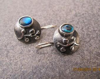 Abalone Sterling Silver Earrings
