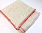 """Half Yard Primitive Linen for Rug Hooking with Serged Edges, 30"""" x 36"""", J774, Rug Hooking Backing Fabric, Foundation Fabric"""