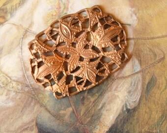 Vintage Old Brass Very Art Deco Openwork Connector Piece