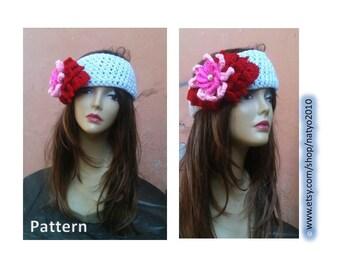 INSTANT DOWNLOAD Romantic Valentine's Day Headband- Crochet Pattern