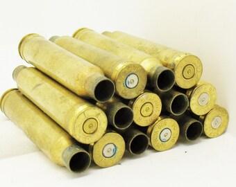 LOT 15 300 Caliber BRASS Gun Shells Casings Spent Empty Craft DIY