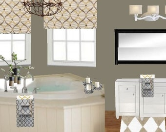 Interior Design Home Decorating Service Custom Design Concept Board Kitchen Or Bathroom