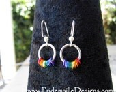 Rainbow Coil Earrings - Chainmaille Jewelry