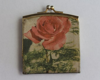 Vintage Italian Rose Coin Purse