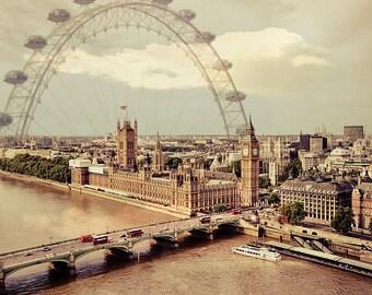 """London art, London photograph, London Photography , London Eye """"A London Memory"""""""