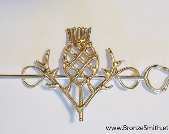 Bronze Thistle Barrette